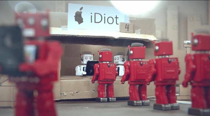iDiots : Petits Robots asservi à Apple